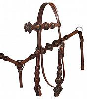 12789 Vintage Style Headstall and Breast Collar Set