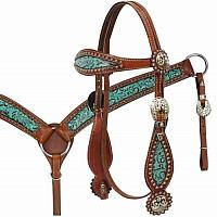 12790 Filigree Headstall and Breast Collar Set