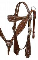 12816 Pink Hope Ribbon Headstall and Breast Collar Set
