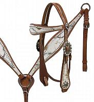 12976 Winter camo overlay headstall and breast collar set