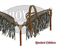 15004E LIMITED EDITION Oak leaf tooled headstall and breast collar