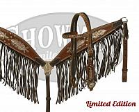 15013 LIMITED EDITION  Metallic painted feather headstall and breast collar set