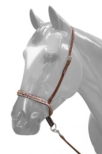 175591 Adjustable Brown Alligator Noseband and Tie Down