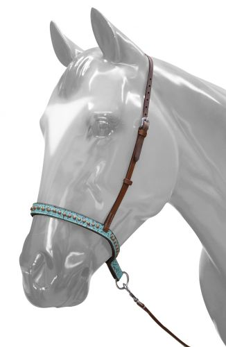 175593 Adjustable Teal Filigree Noseband and Tie Down