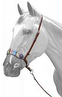 175799 Adjustable Aztec print noseband with tie down strap
