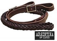 19098 7.5 ft Argentina cow leather contest reins.