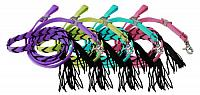 """19189 5/8"""" x 8ft nylon contest rein with tassels"""