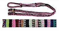 27109 braided nylon barrel reins with easy grip knots