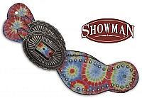 30666 Ladies size tie dye print spur straps