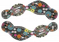 30675 Ladies size polka dot spur straps