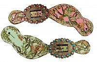 30677 Ladies Size Camo print spur straps