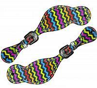 30712 LADIES SIZE Rainbow chevron print spur straps