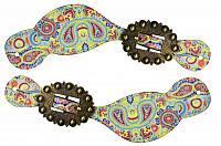 30713 Ladies size floral paisley print spur straps