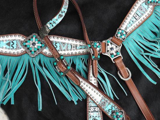 13275 Artic Aztec Fringe Tack Set