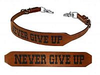 175992 Leather Never give up wither strap