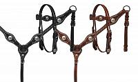 13590 Leather Pony Tack Set with silver conchos