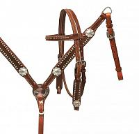 13592 Leather Pony Set with silver conchos