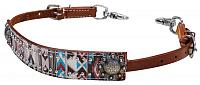19211 Navajo colored Aztec wither strap