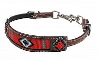 19282 red beaded wither strap