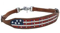 WS-05 American flag rhinestone wither strap