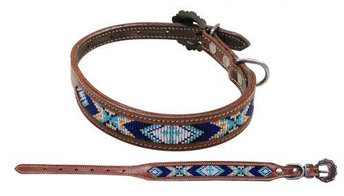 DS01 Beaded Dog Collar