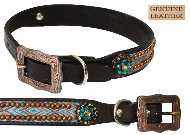 175821 Navajo print dog collar