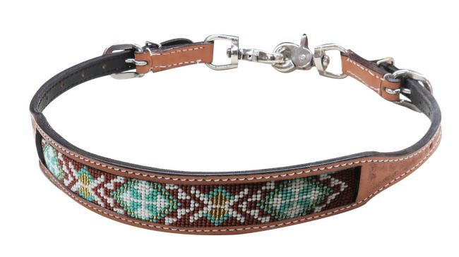 19318 beaded wither strap