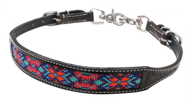 19321 dark chocolate beaded wither strap